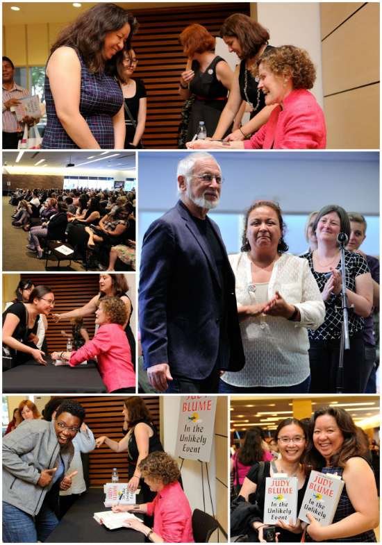 Fans meet and mingle with Judy Blume as she signs copies of In the Unlikely Event.