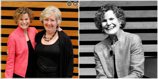 Bestselling author Judy Blume and Toronto Public Library Chief Librarian Vickery Bowles.