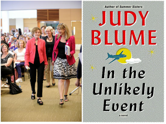 Judy Blume, Vickery Bowles, and Rachel Geise on route to the highly anticipated discussion of Blume's first novel in over a decade, In the Unlikely Event.