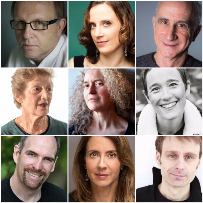 Authors Wayne Johnston, Alison Pick, Robert Rotenberg, Lorna Poplak, Martha Baillie, Roz Nay, Mark Leslie, Robyn Harding, Nicolas Dickner.